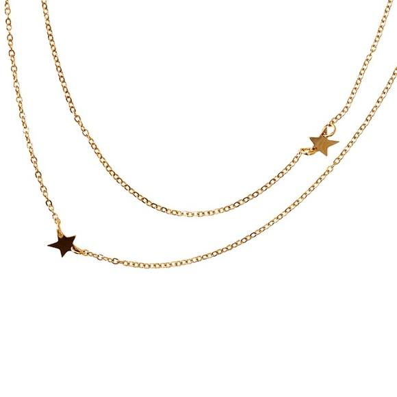 3f4f731a0 Jennifer Zeuner Jewelry   Star Gold Necklace   Poshmark